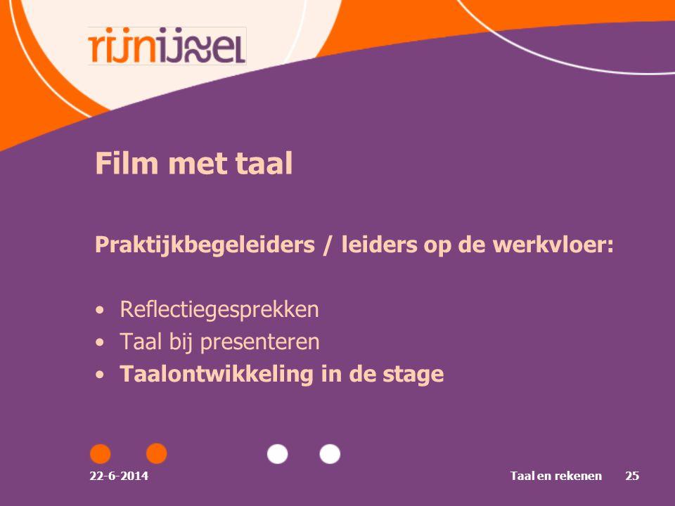 Film met taal Praktijkbegeleiders / leiders op de werkvloer: