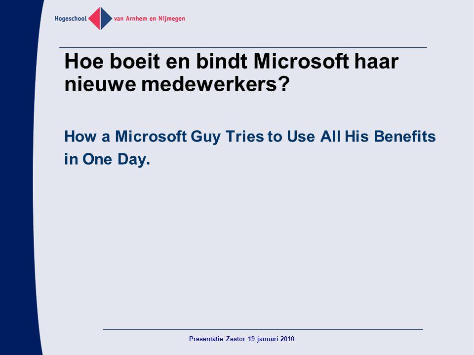 Hoe boeit en bindt Microsoft haar nieuwe medewerkers