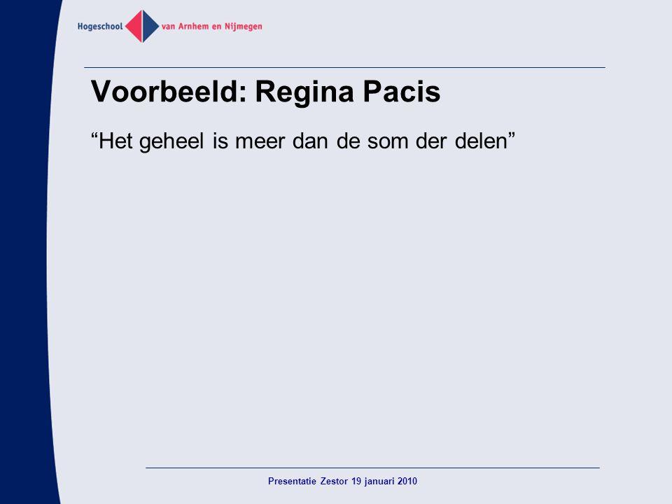 Voorbeeld: Regina Pacis