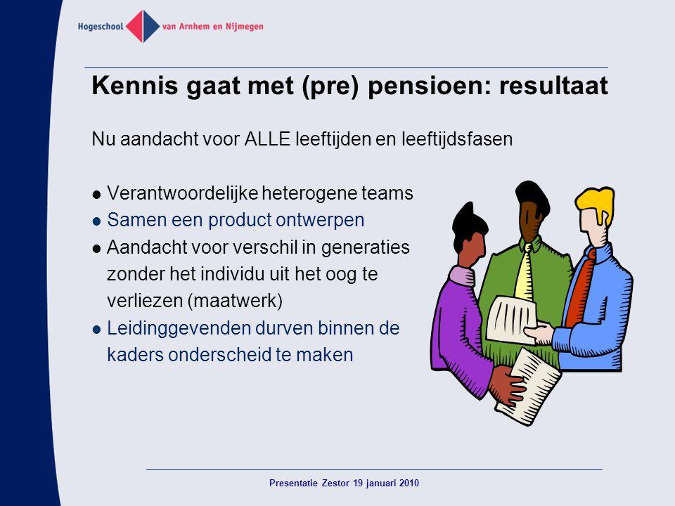 Kennis gaat met (pre) pensioen: resultaat