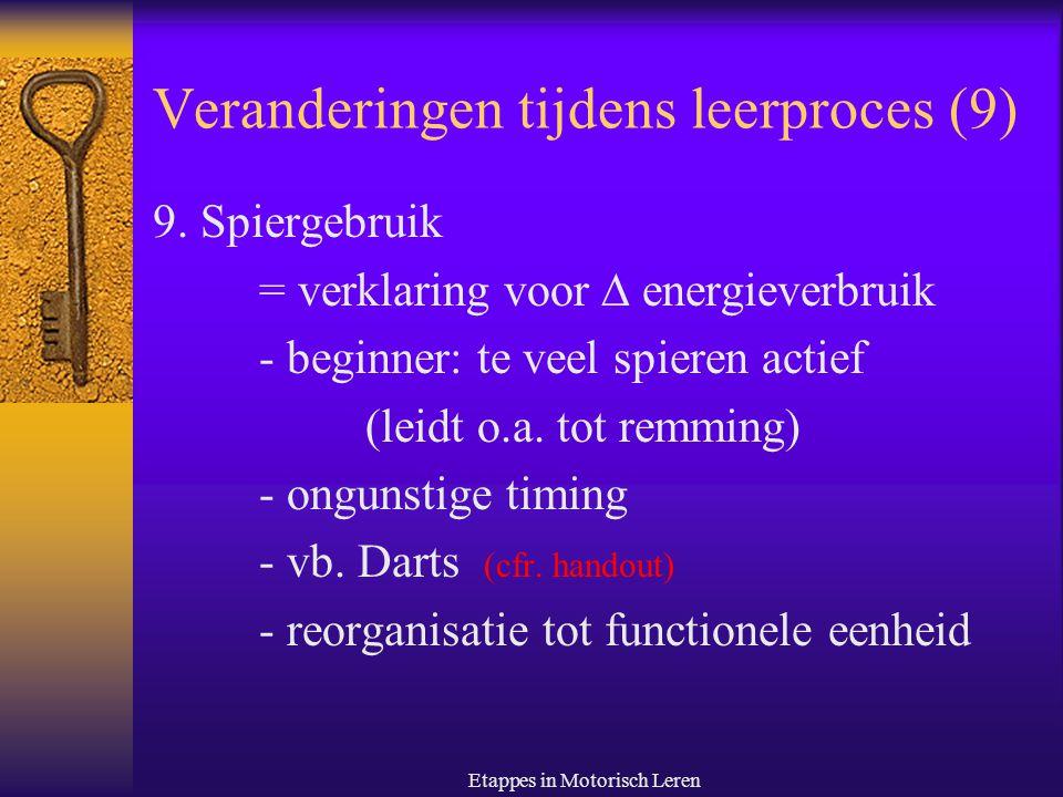 Veranderingen tijdens leerproces (9)