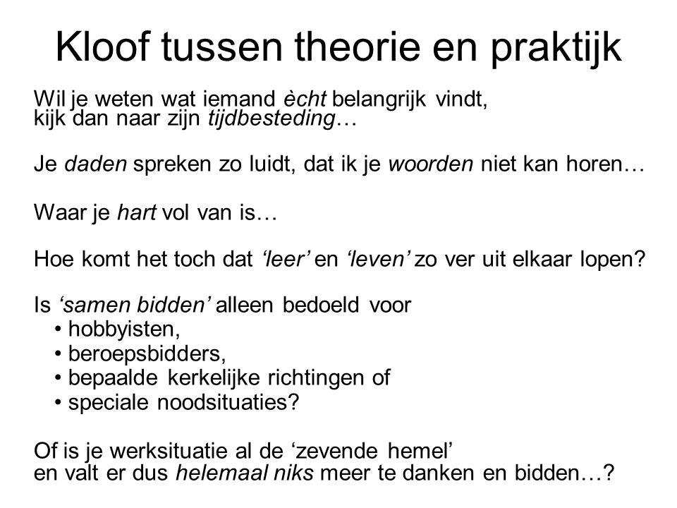 Kloof tussen theorie en praktijk