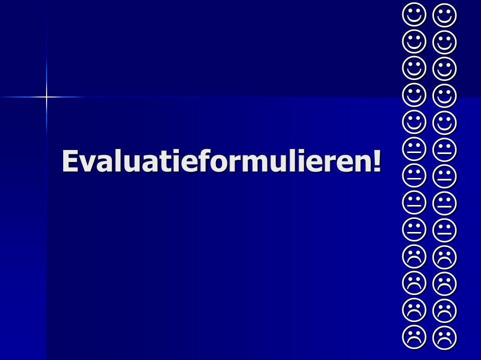 Evaluatieformulieren!