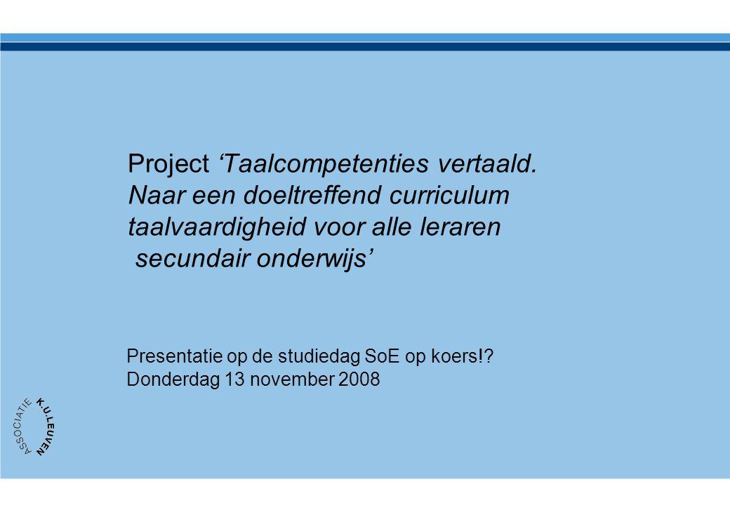 Project 'Taalcompetenties vertaald