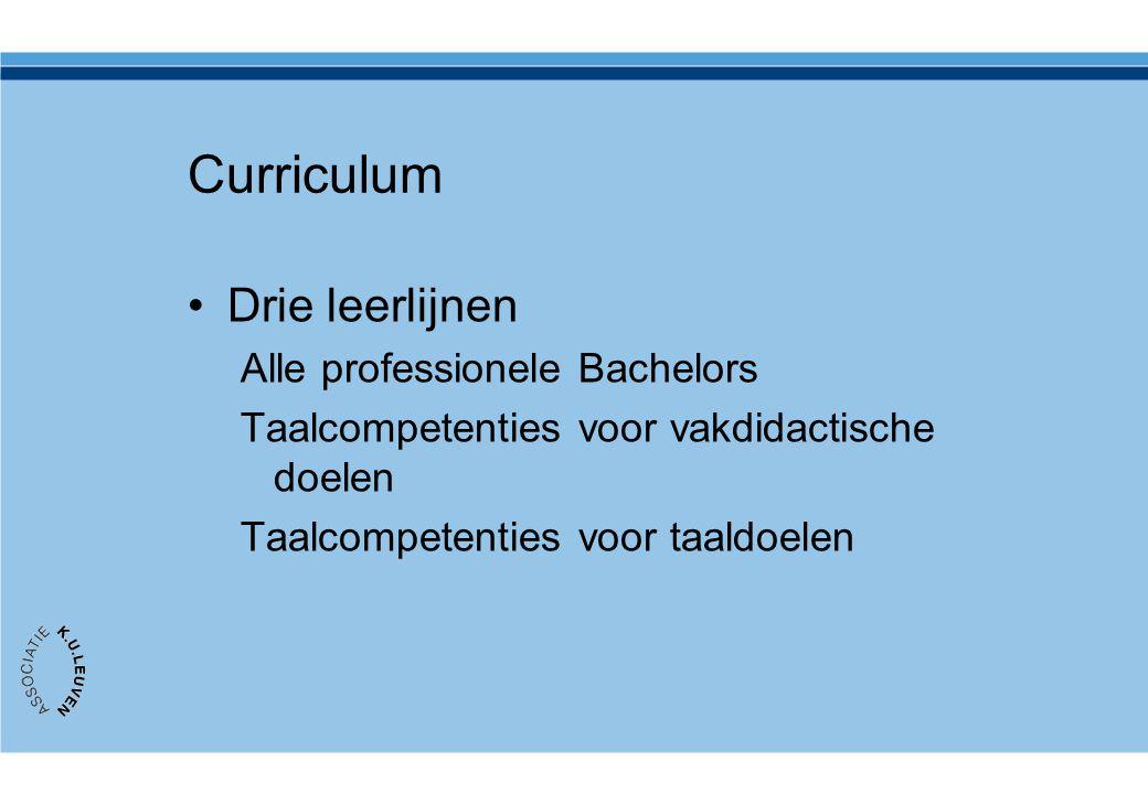 Curriculum Drie leerlijnen Alle professionele Bachelors