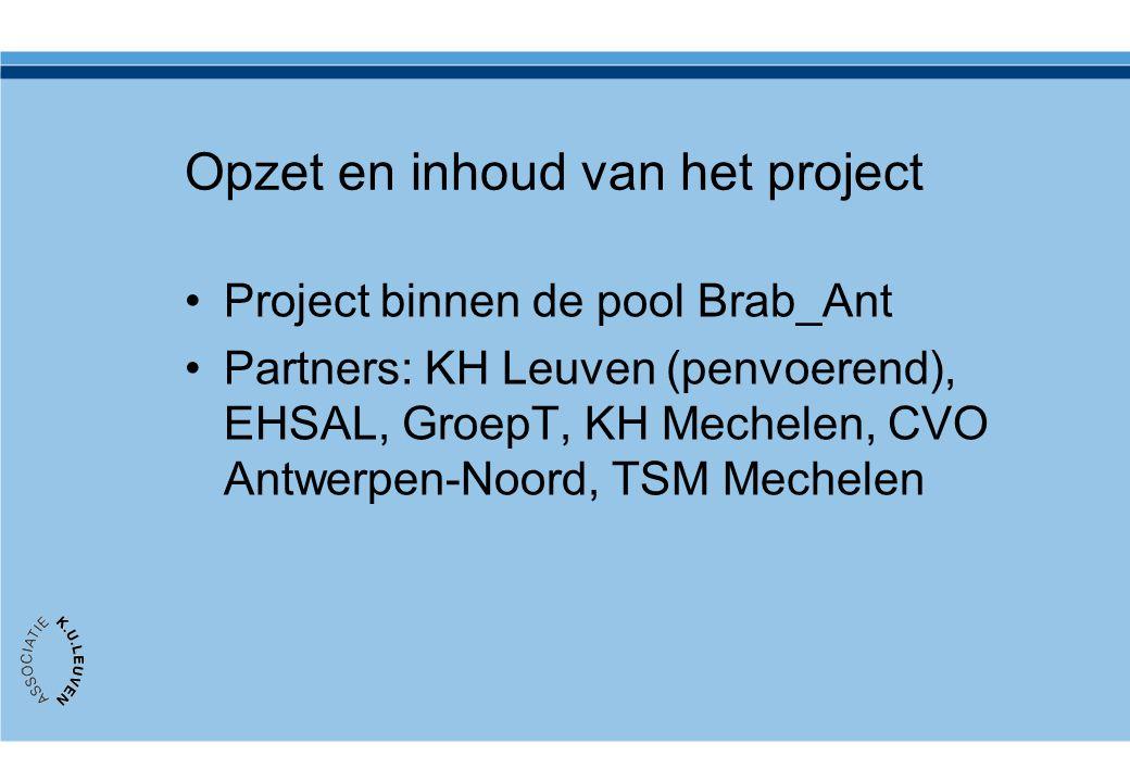 Opzet en inhoud van het project