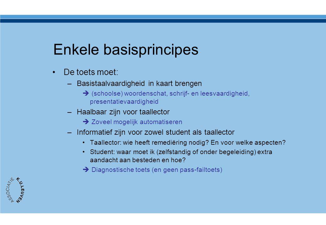 Enkele basisprincipes