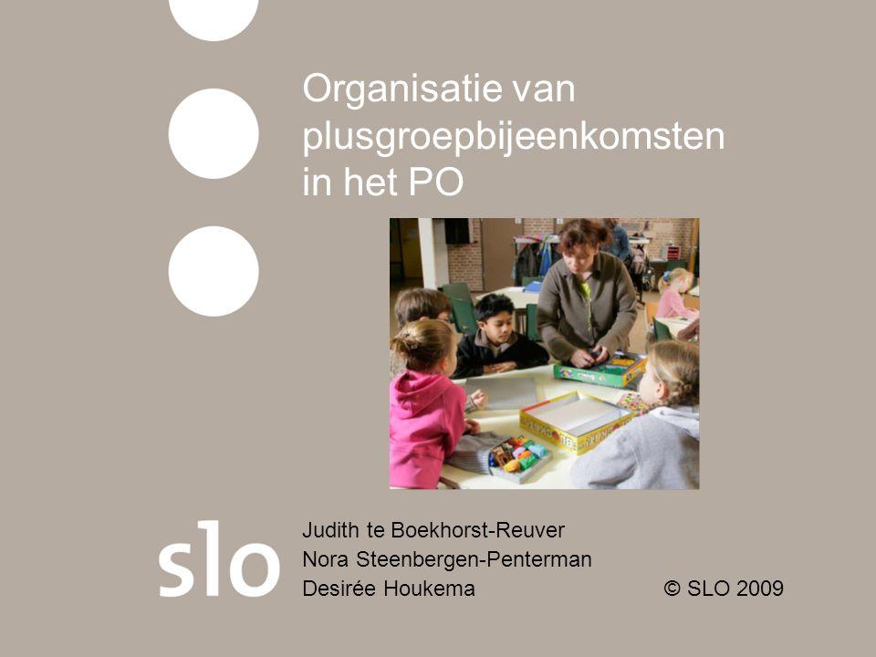 Organisatie van plusgroepbijeenkomsten in het PO