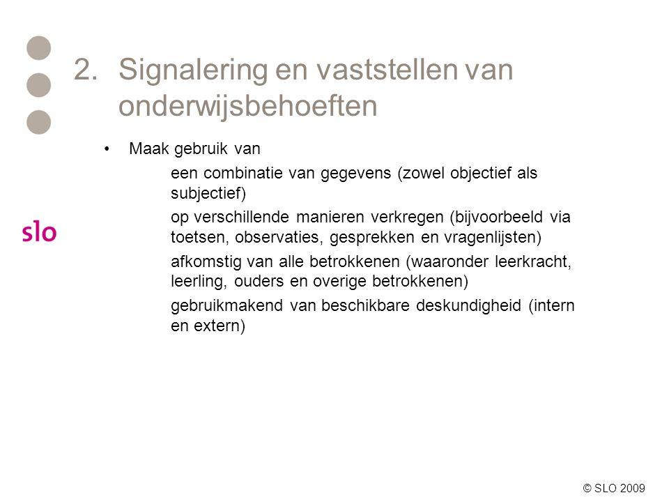 2. Signalering en vaststellen van onderwijsbehoeften