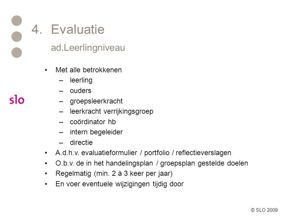 4. Evaluatie ad.Leerlingniveau