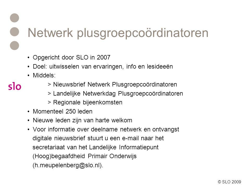 Netwerk plusgroepcoördinatoren