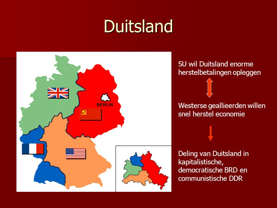 Duitsland SU wil Duitsland enorme herstelbetalingen opleggen