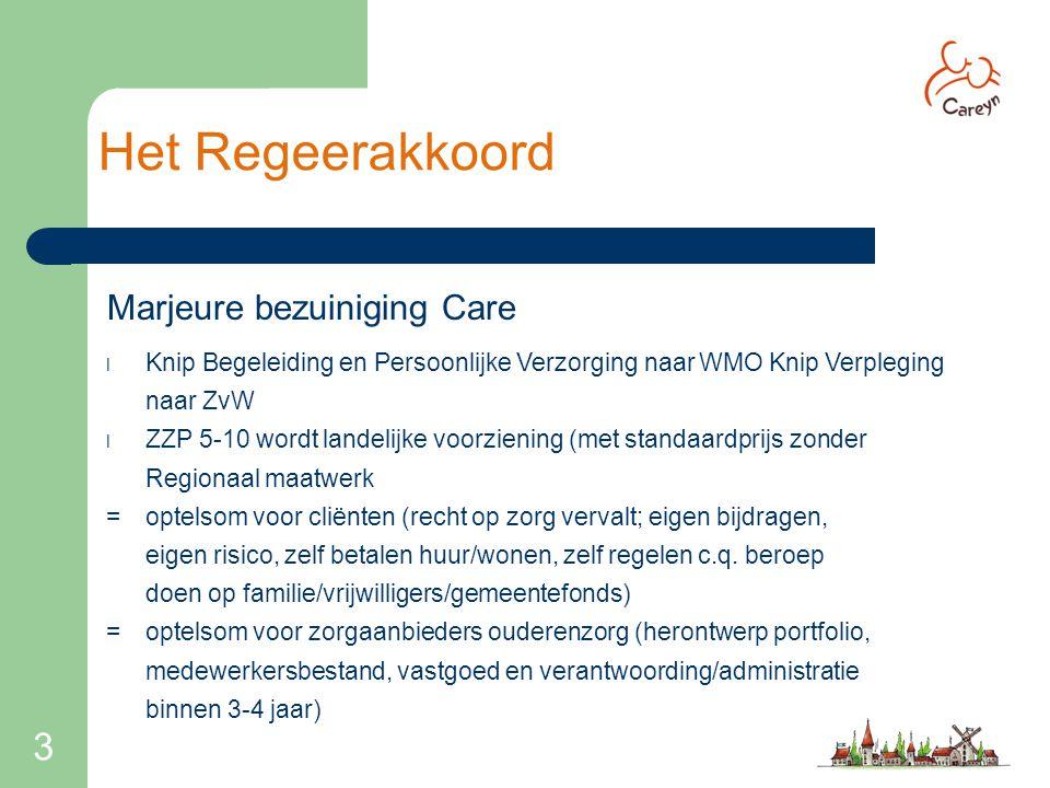 Het Regeerakkoord 3 Marjeure bezuiniging Care