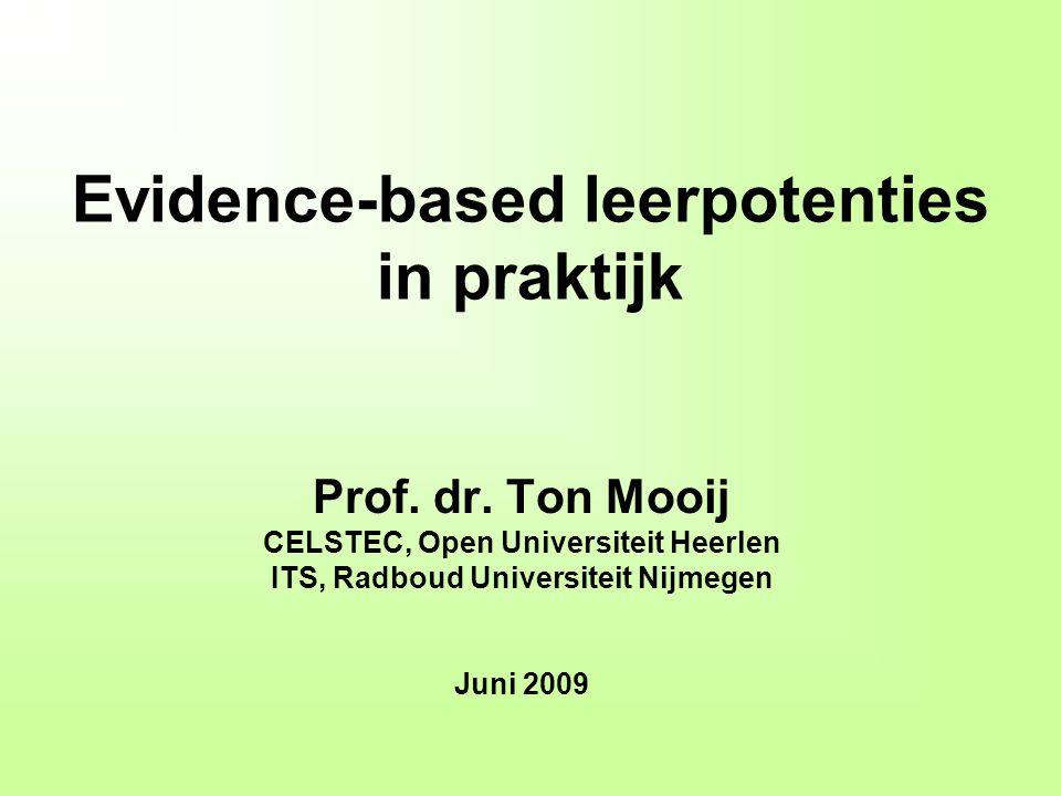 Evidence-based leerpotenties in praktijk