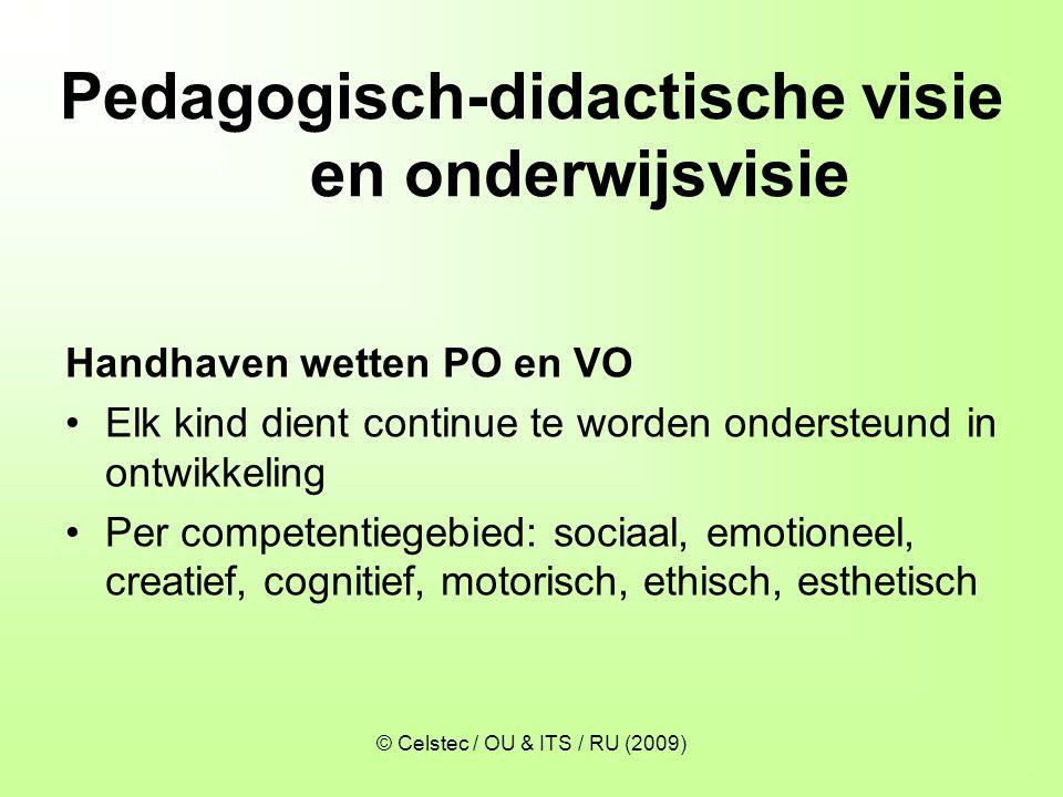 Pedagogisch-didactische visie en onderwijsvisie