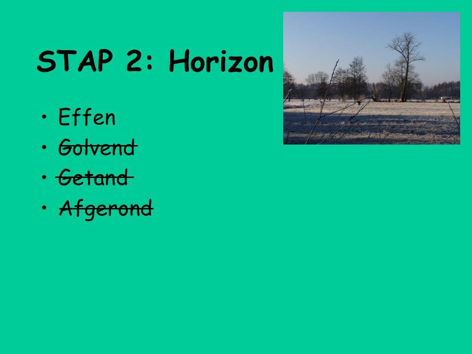 STAP 2: Horizon Effen Golvend Getand Afgerond