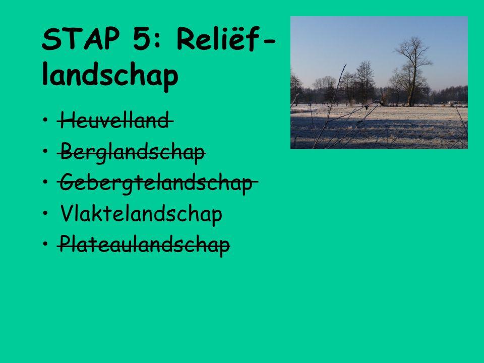 STAP 5: Reliëf-landschap