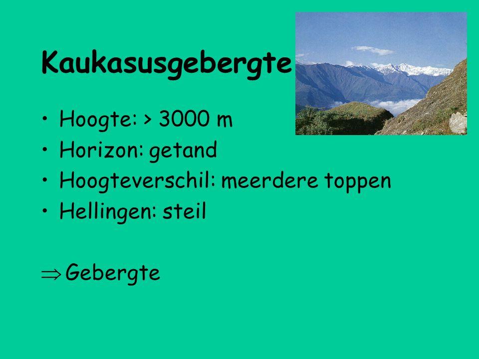 Kaukasusgebergte Hoogte: > 3000 m Horizon: getand
