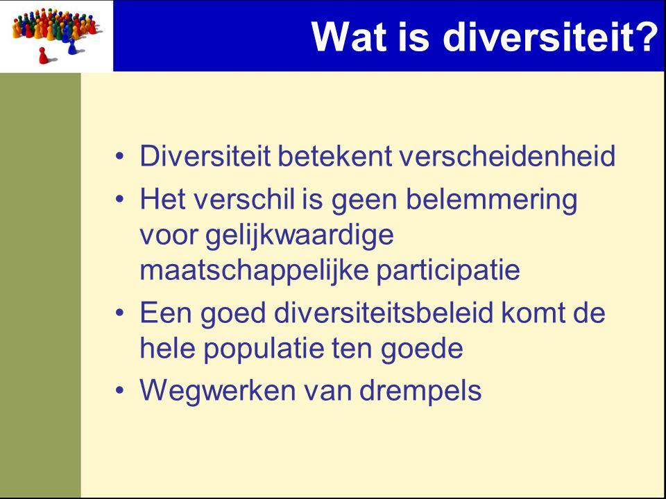 Wat is diversiteit Diversiteit betekent verscheidenheid