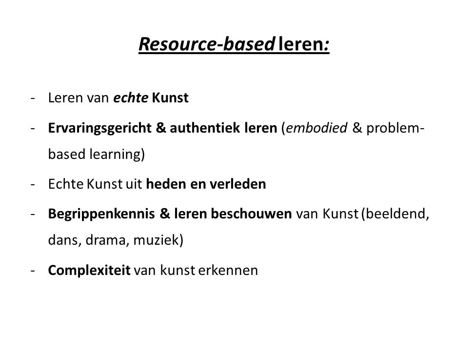 Resource-based leren: