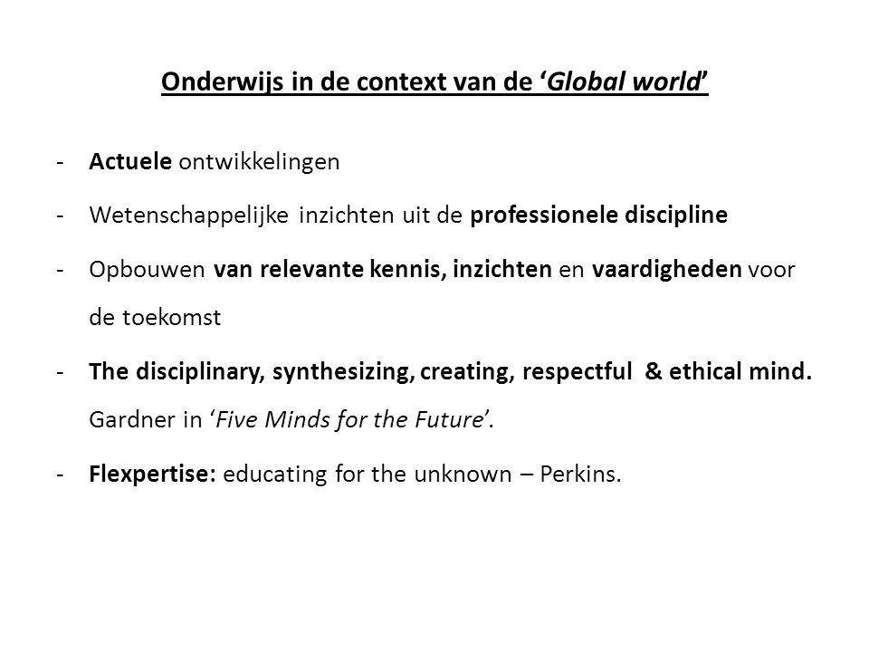 Onderwijs in de context van de 'Global world'