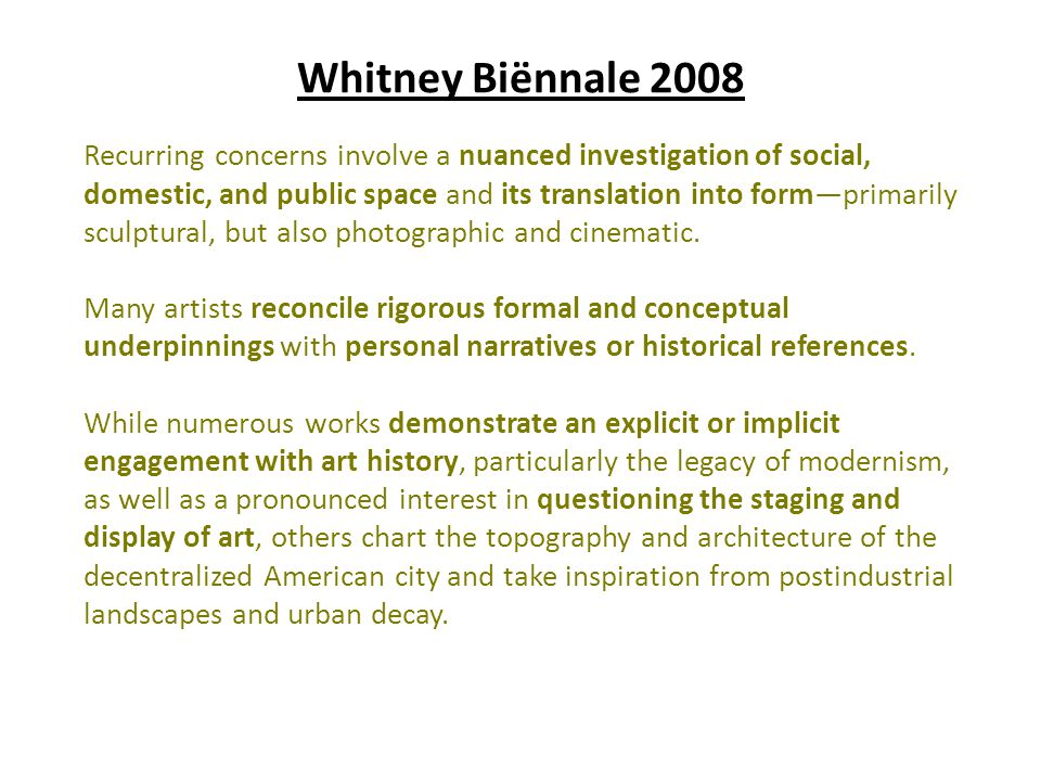 Whitney Biënnale 2008