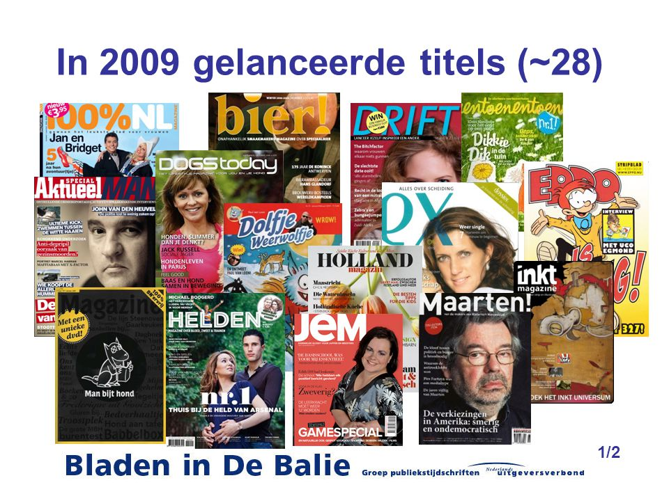 In 2009 gelanceerde titels (~28)