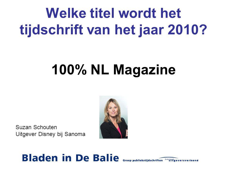 Welke titel wordt het tijdschrift van het jaar 2010