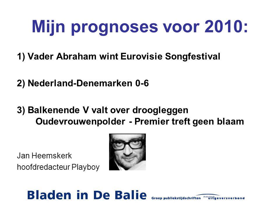 Mijn prognoses voor 2010: 1) Vader Abraham wint Eurovisie Songfestival