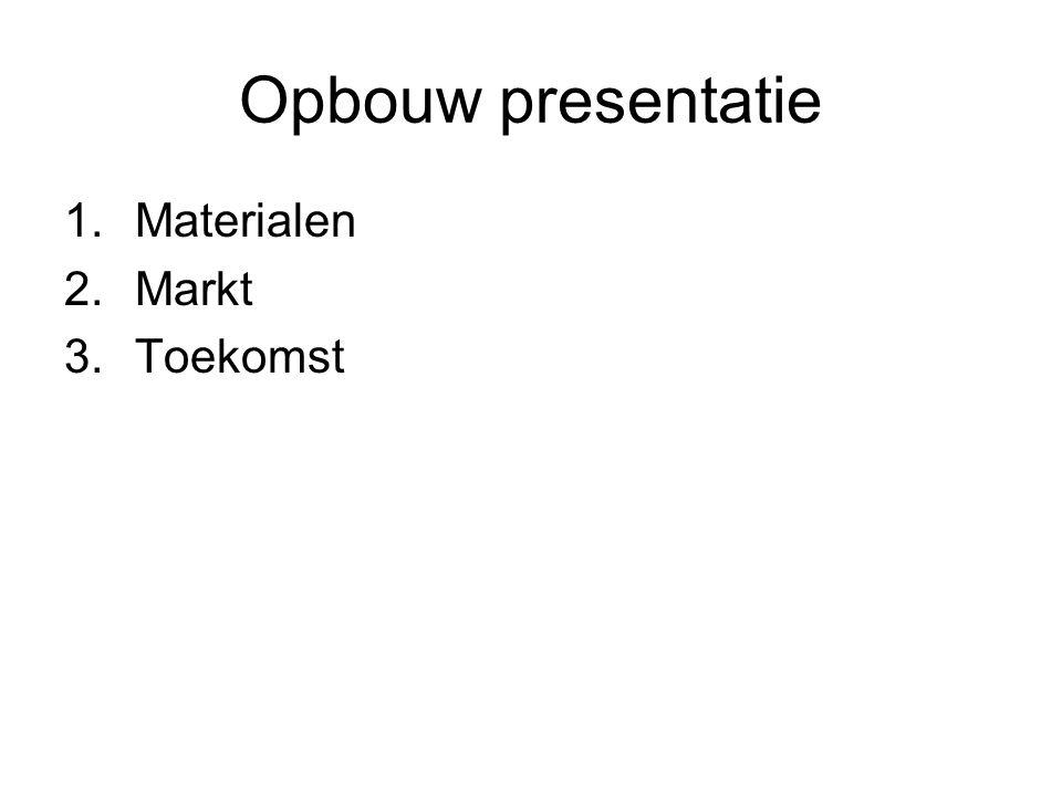 Opbouw presentatie Materialen Markt Toekomst