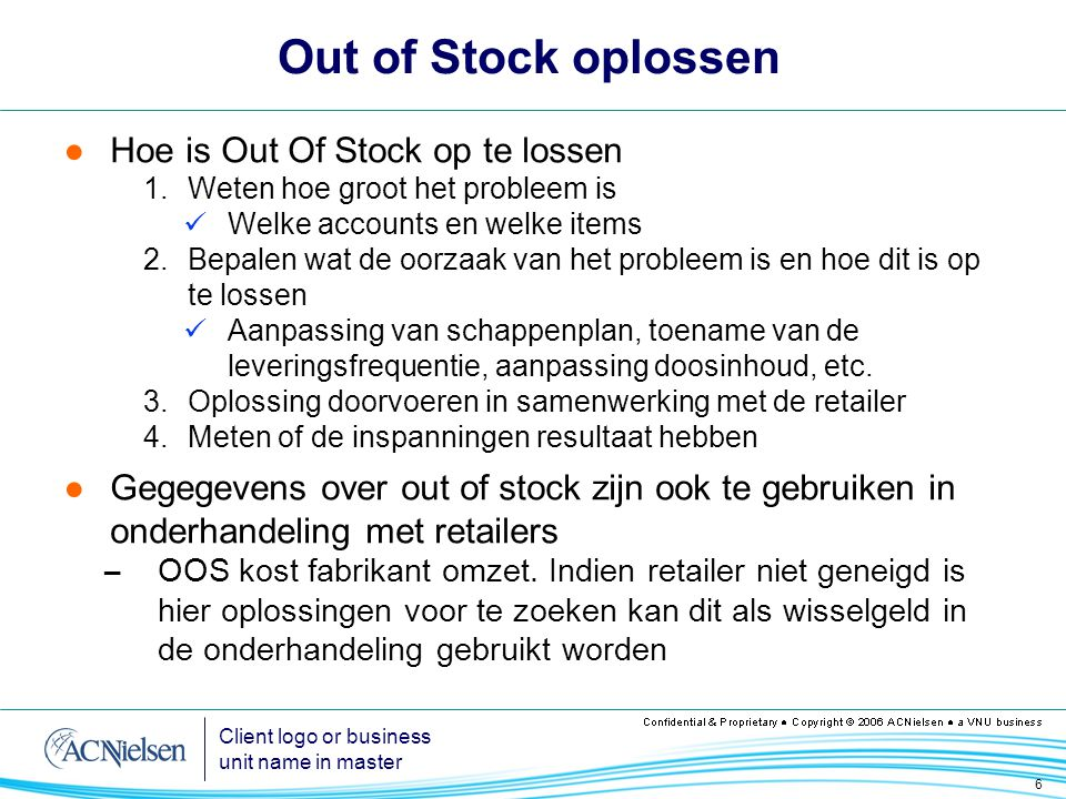 Out of Stock oplossen Hoe is Out Of Stock op te lossen