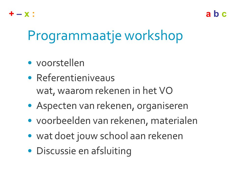 Programmaatje workshop