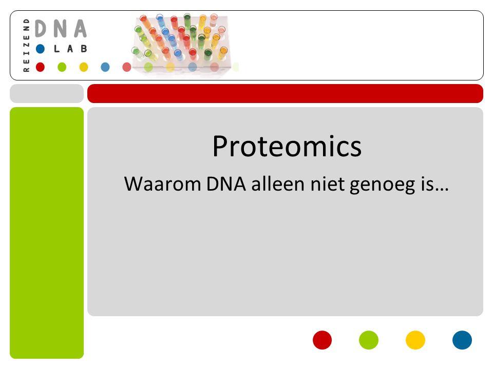 Waarom DNA alleen niet genoeg is…