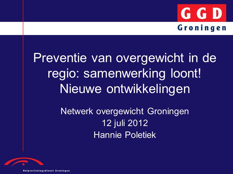Netwerk overgewicht Groningen 12 juli 2012 Hannie Poletiek