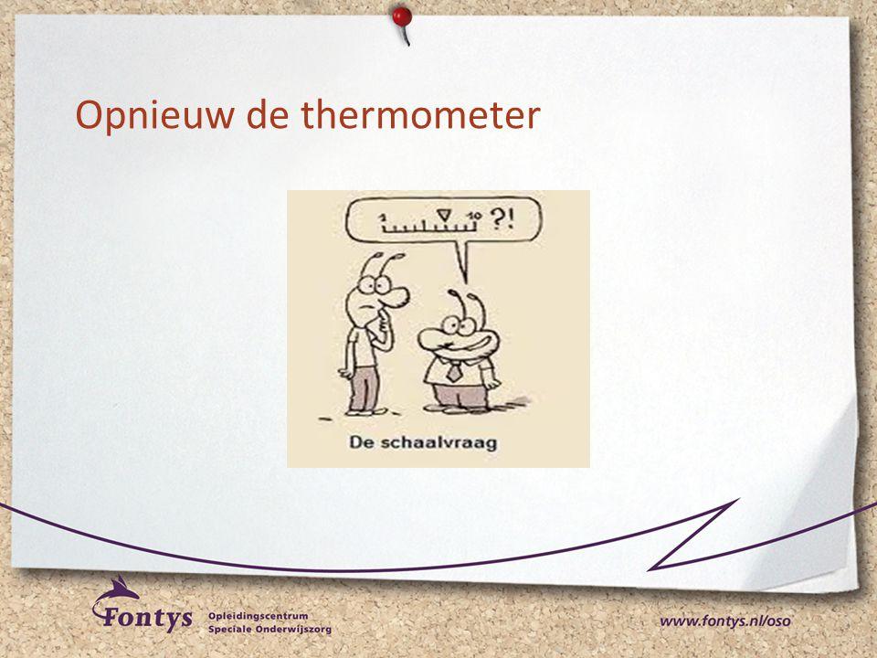 Opnieuw de thermometer