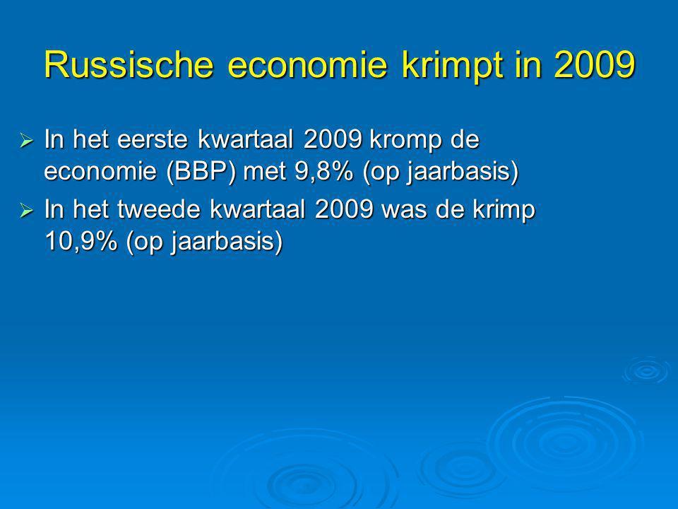 Russische economie krimpt in 2009