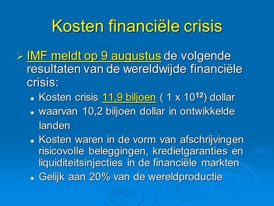 Kosten financiële crisis