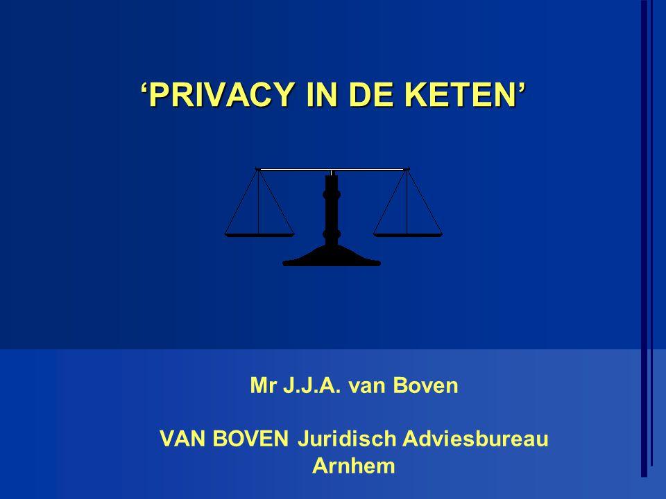 Mr J.J.A. van Boven VAN BOVEN Juridisch Adviesbureau Arnhem