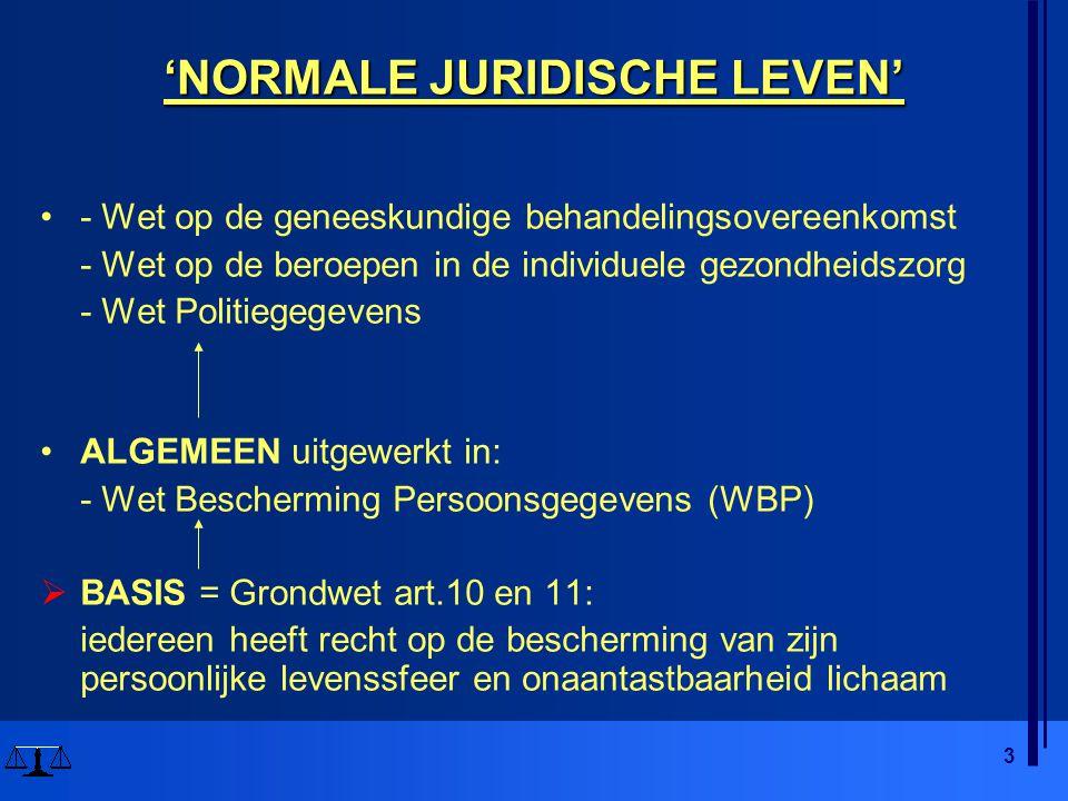 'NORMALE JURIDISCHE LEVEN'
