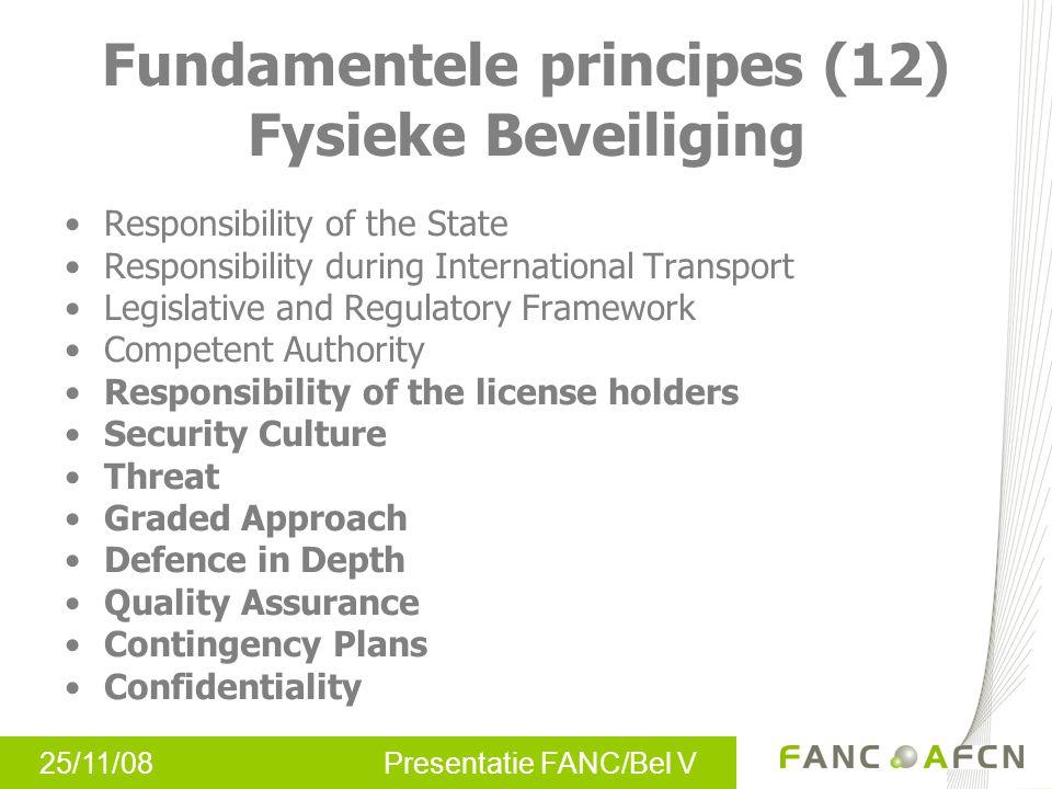 Fundamentele principes (12) Fysieke Beveiliging
