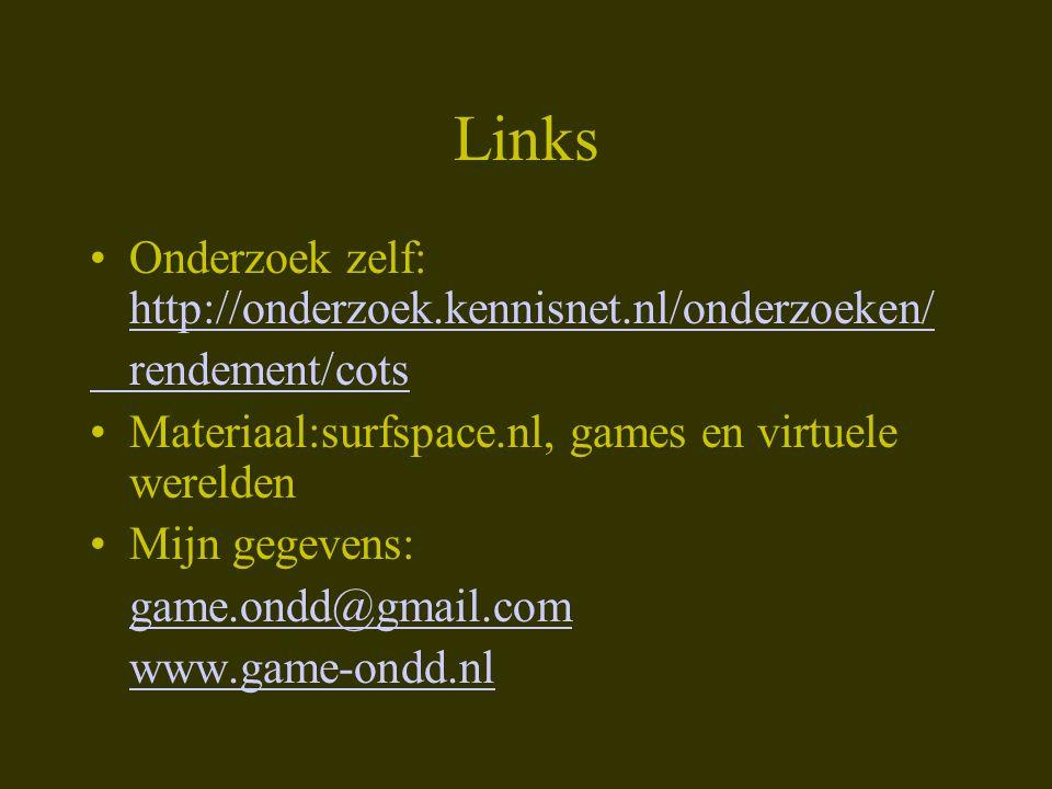 Links Onderzoek zelf: http://onderzoek.kennisnet.nl/onderzoeken/