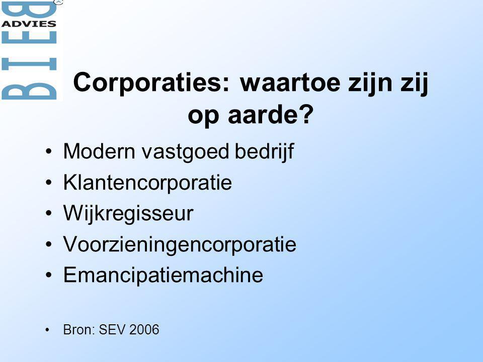 Corporaties: waartoe zijn zij op aarde