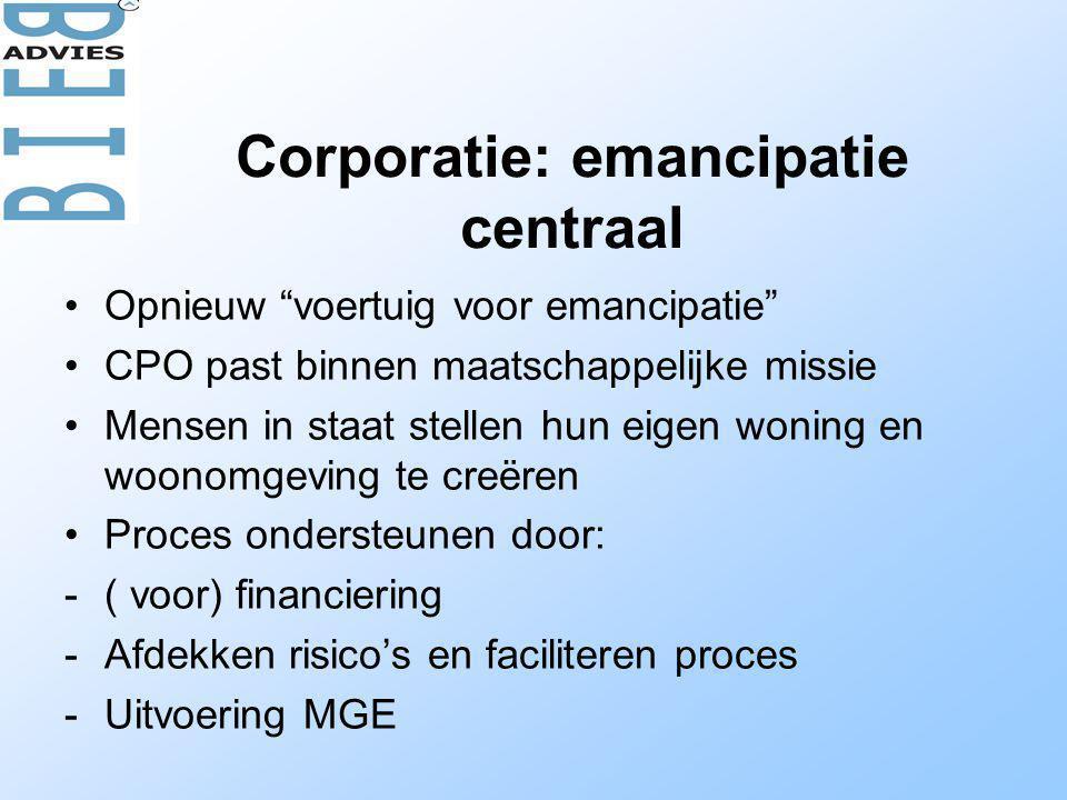 Corporatie: emancipatie centraal
