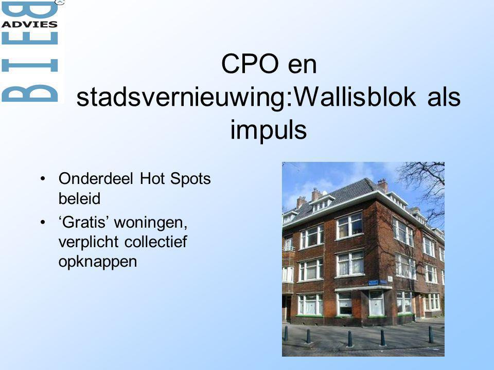 CPO en stadsvernieuwing:Wallisblok als impuls