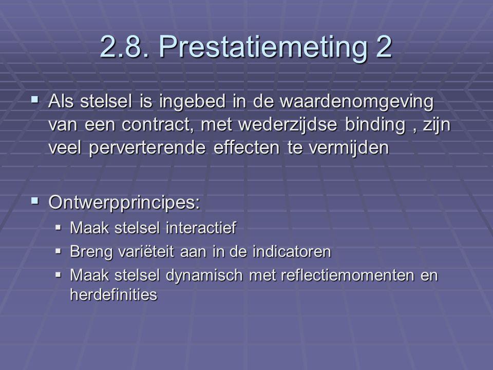 2.8. Prestatiemeting 2