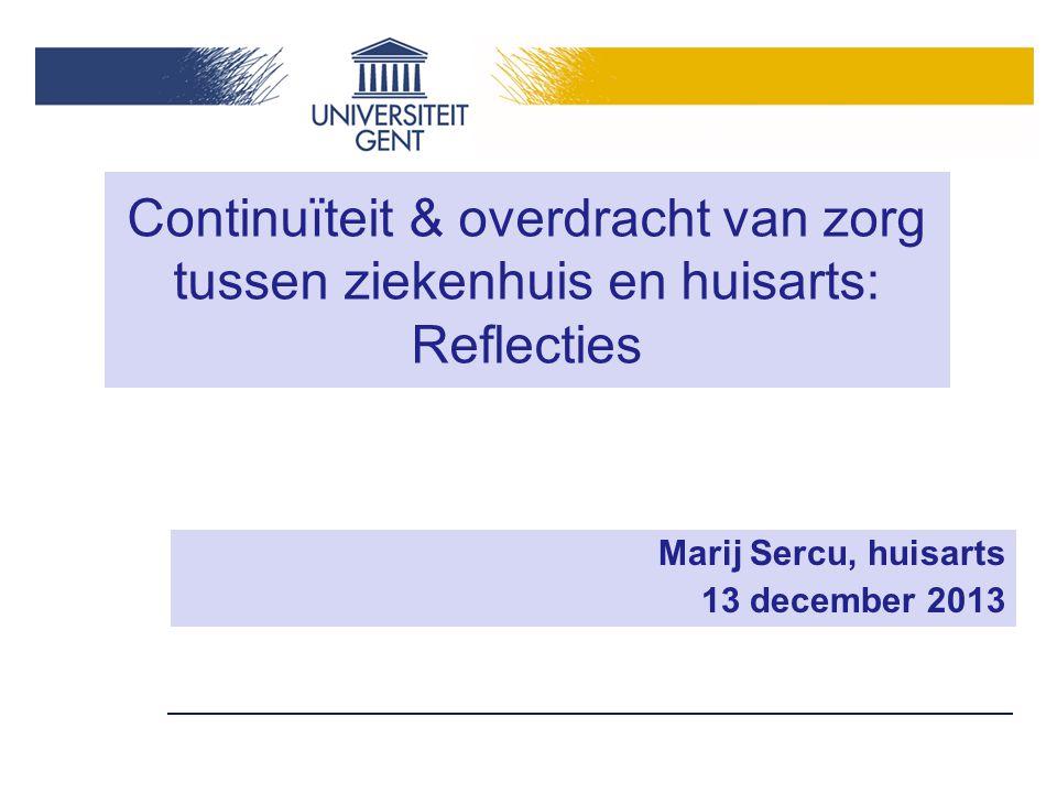 Marij Sercu, huisarts 13 december 2013