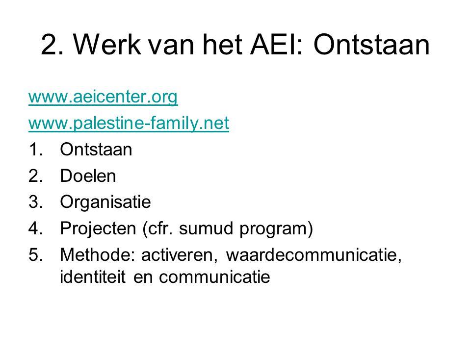 2. Werk van het AEI: Ontstaan