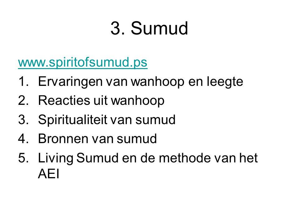 3. Sumud www.spiritofsumud.ps Ervaringen van wanhoop en leegte