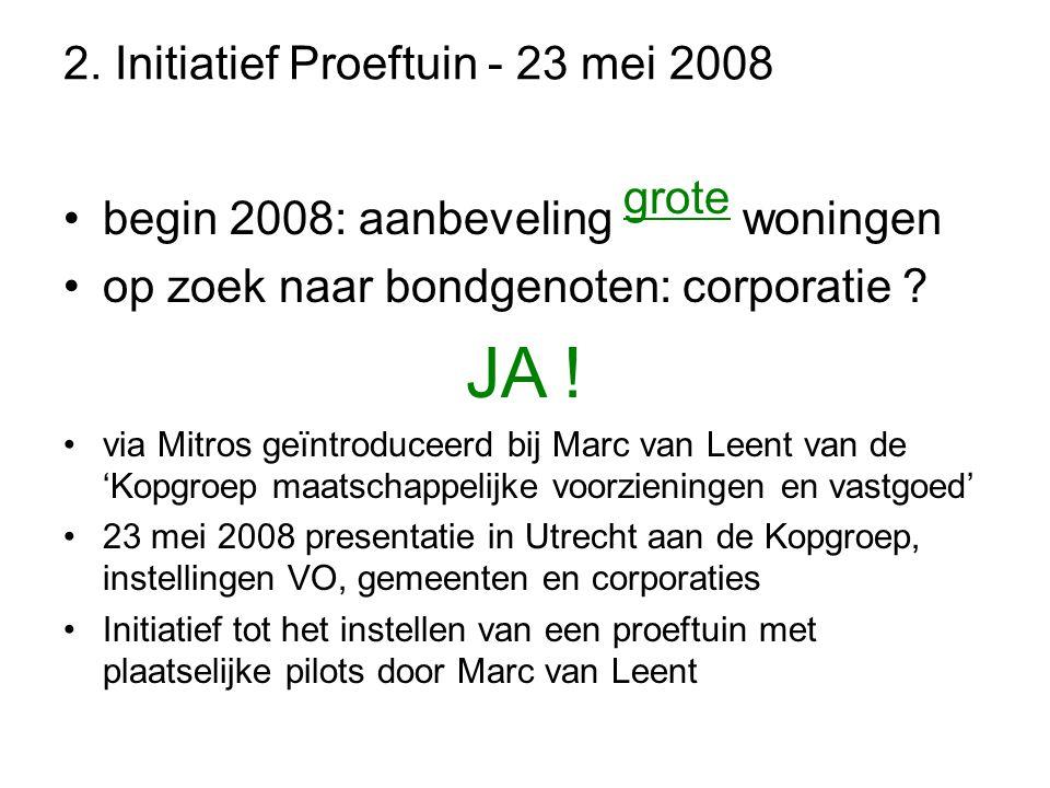 2. Initiatief Proeftuin - 23 mei 2008