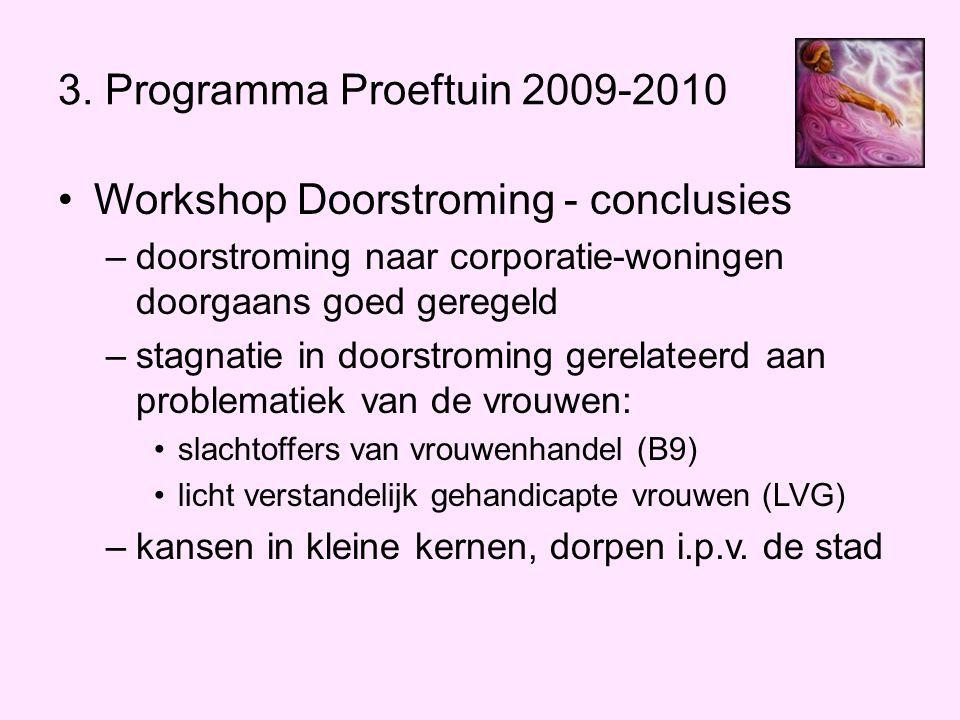 Workshop Doorstroming - conclusies